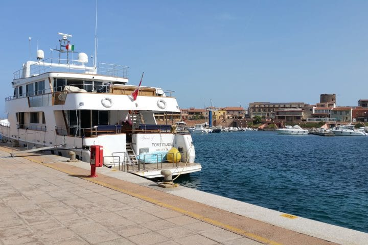 Moored in Sardinia