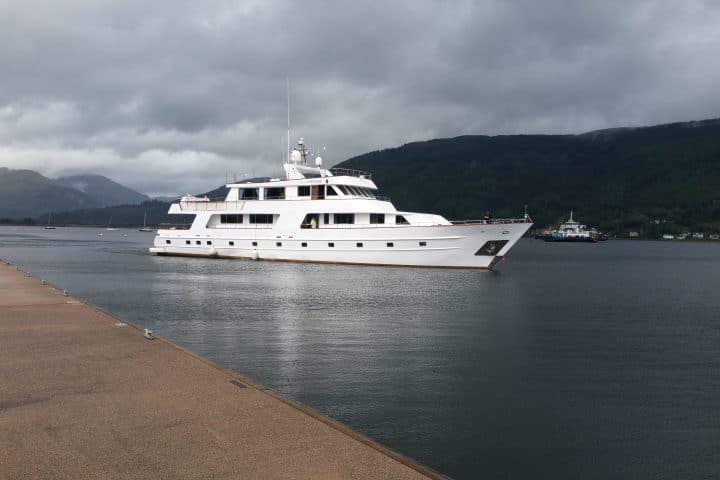 Leaving Holy Loch Marina