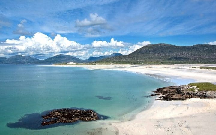 One of the beaches on South Harris, Outer Hebrides Scotland.This island has many beautiful long beaches.