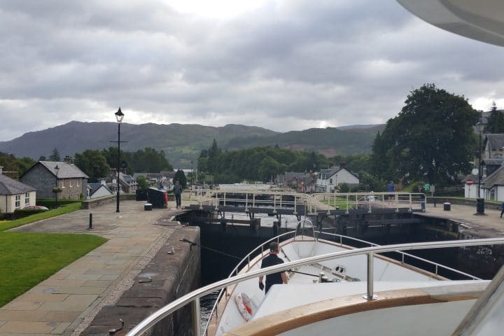Passing through Fort Augustus locks