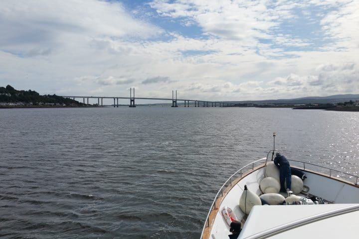 Approaching the Kessock Bridge