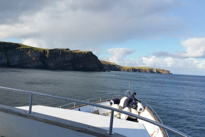 Anchored off Staffa