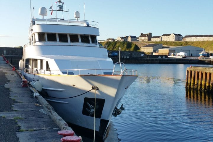 Wick Harbour on private charter