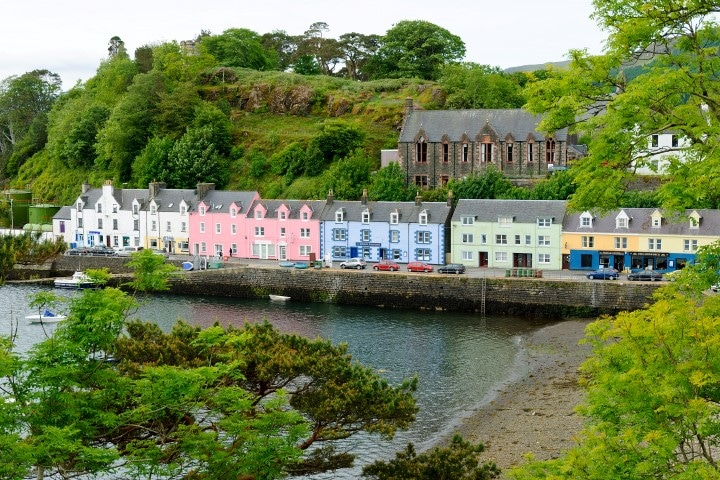Morning view of Portree, Isle of Skye
