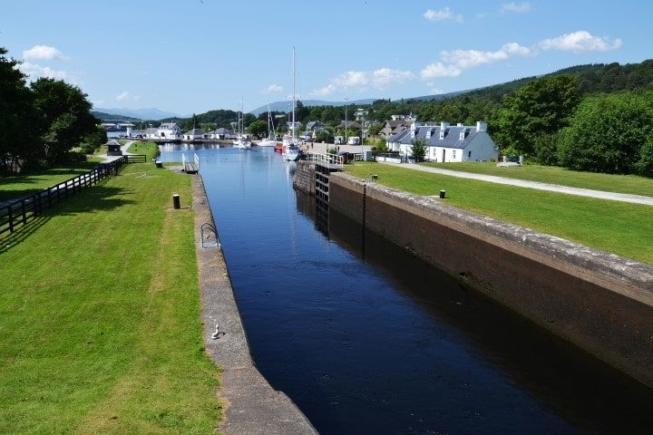 Neptune's Staircase - a staircase lock on the Caledonian Canal, the longest staircase lock in Britain