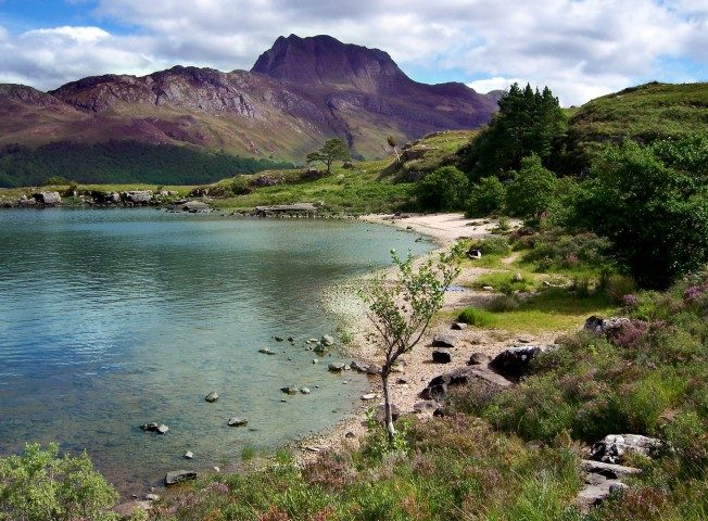 Loch Maree in Scottish Highlands