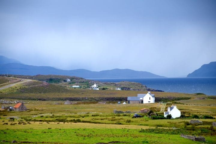 Cottages on the Applecross peninsula, Scotland